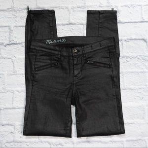 MADEWELL coated denim w/ zip pockets/ankles SZ 24